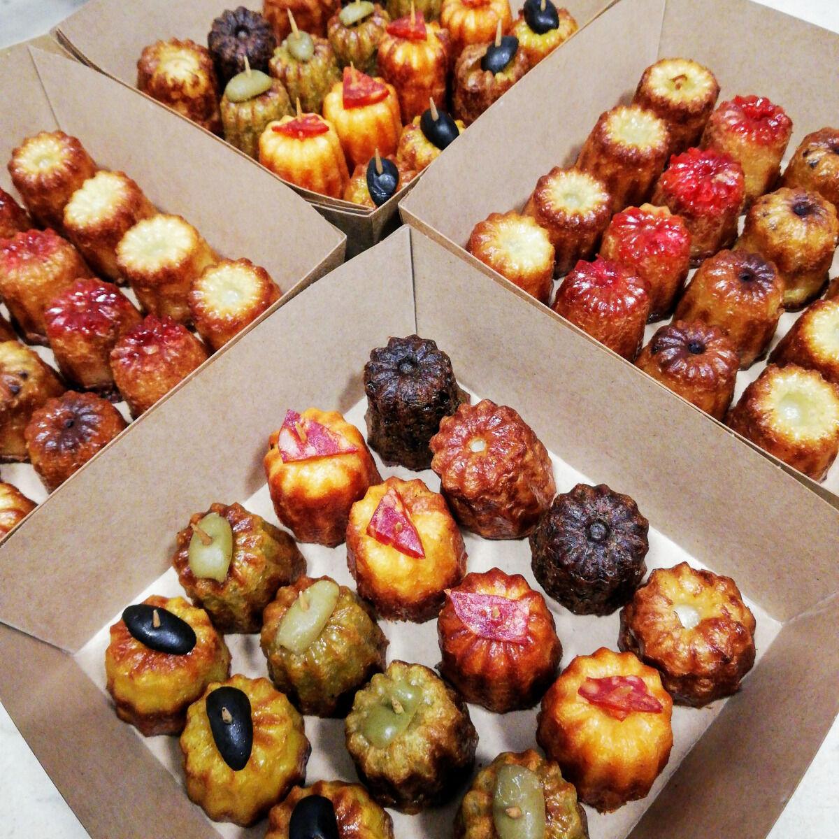 Les Cannelés d'Audrey Coffret De 16 Mini-cannelés Sans Gluten Olives-pesto