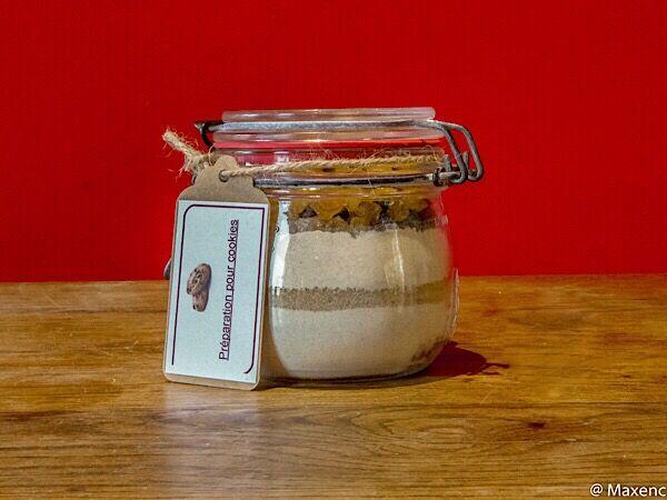 Moulin de Mirebeau Preparation En Bocal Pour Cookies Aux Chocolat Et Aux Raisins
