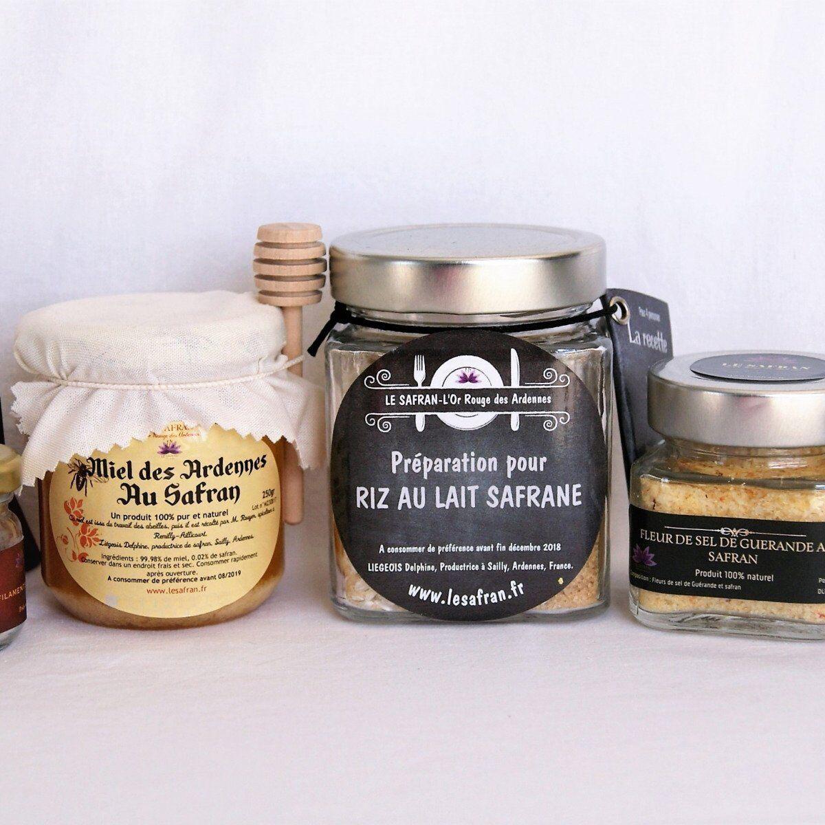 Le safran - l'or rouge des Ardennes Safran, Riz Au Lait, Fleur De Sel, Moutarde, Miel