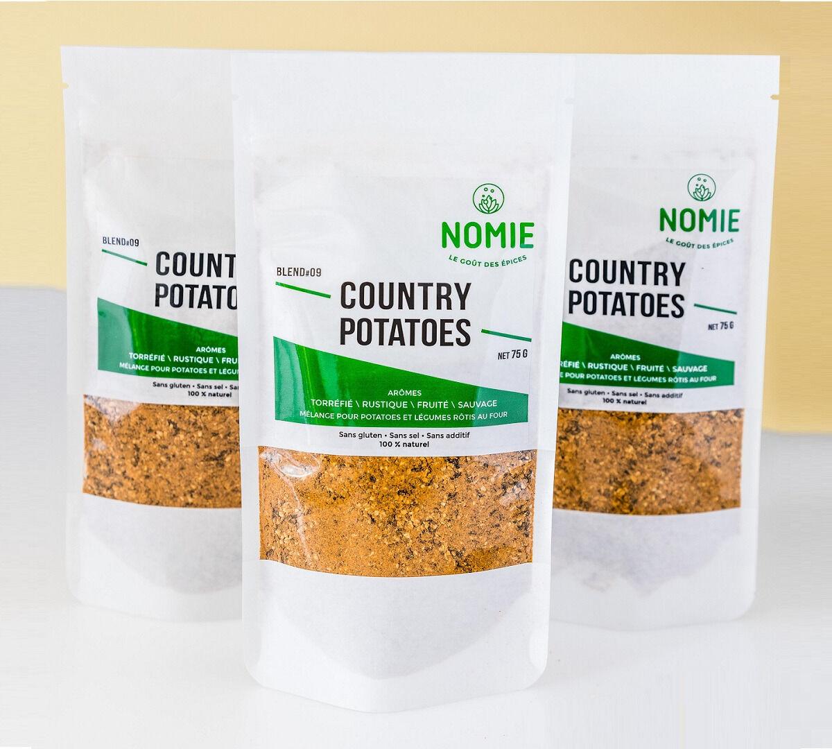 Nomie, le goût des épices Country Potatoes. Mélange Pour Potatoes Et Légumes Rôtis Au Four