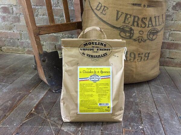 Moulins de Versailles Préparation Pour Pain Maison Aux 6 Céréales Et 4 Graines - 5kg