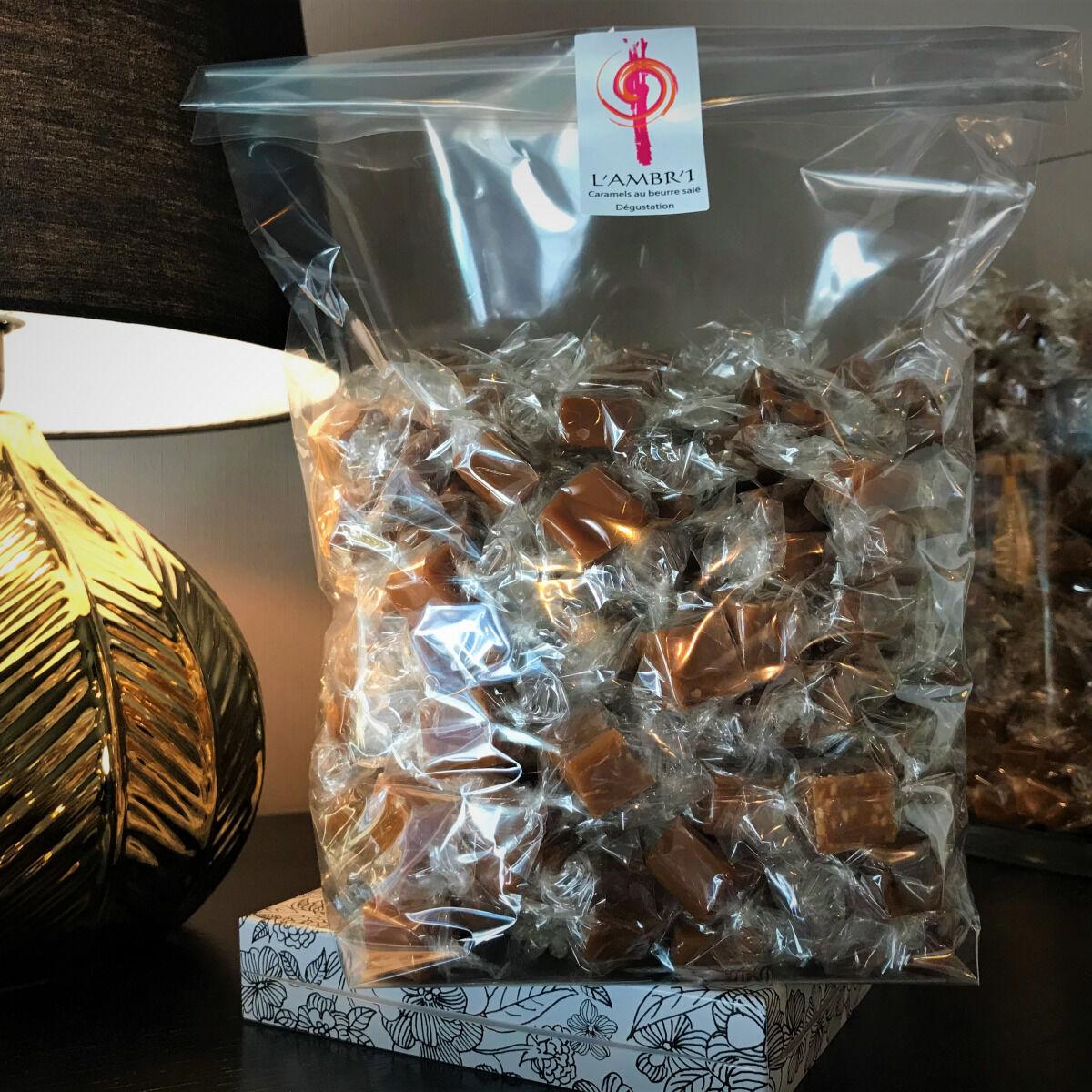 L'AMBR'1 Caramels et Gourmandises Caramel Dégustation (mélange De 10 Parfums) - Sac De 1kg