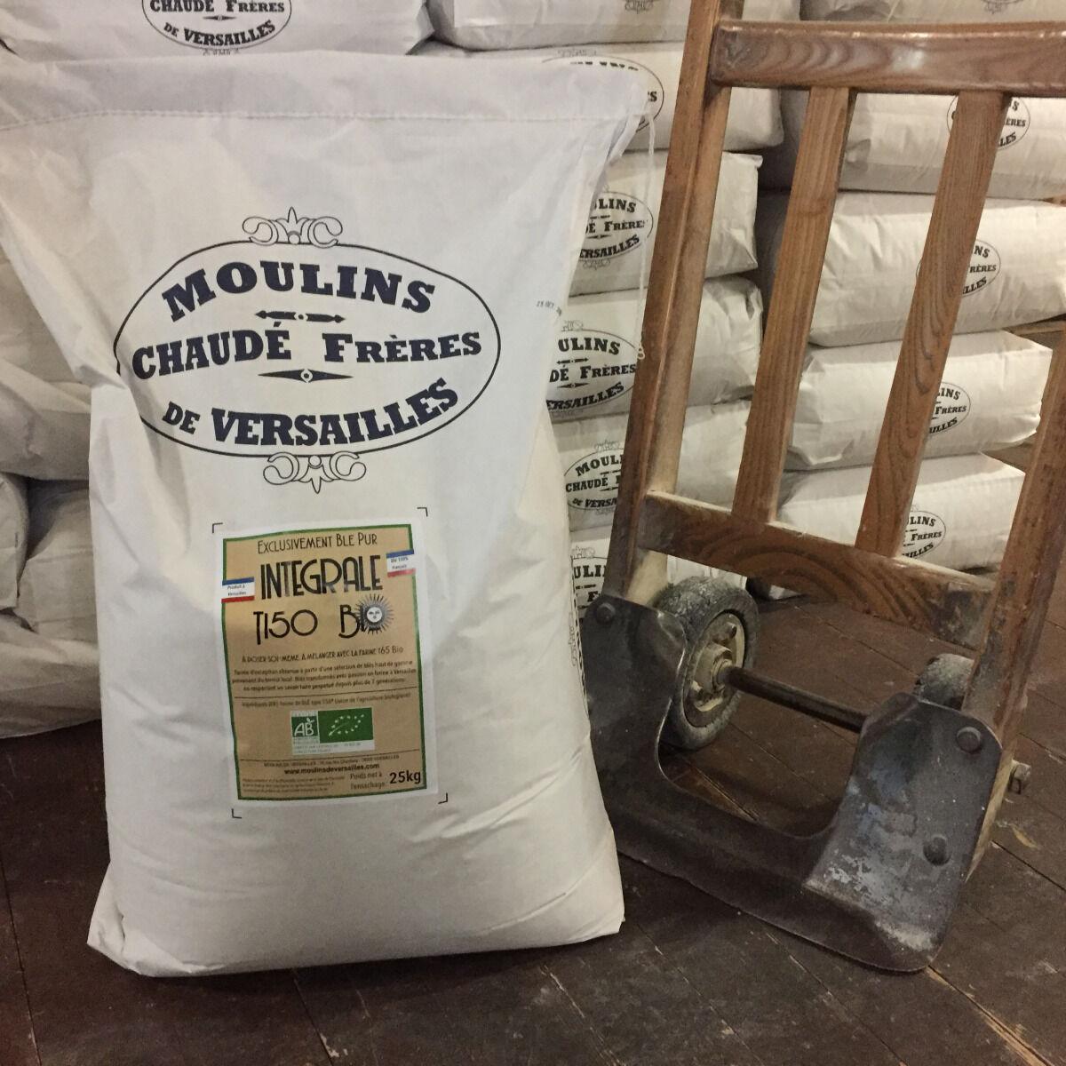 Moulins de Versailles Farine De Blé Bio T150 / Intégrale - 25kg