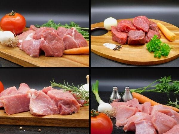Le Marvillois Colis de viandes à mijoter - porc/agneau/bœuf/veau - 4,8 kg