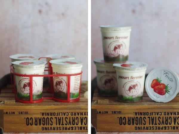 Ferme Chambon Yaourts au Lait Cru de Vache et aux Fruits (Fraise) x8