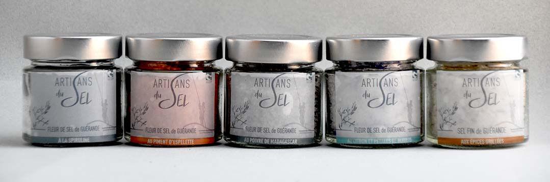 Artisans du Sel Lot De 5 Verrines De Fleur De Sel De Guérande Aromatisée