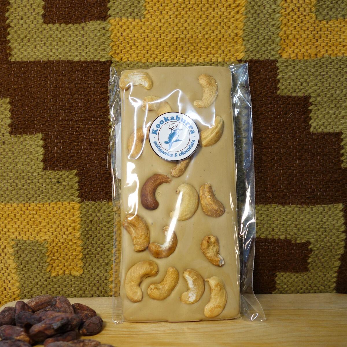 Pâtisserie Kookaburra Tablette Chocolat Blond & Cajou