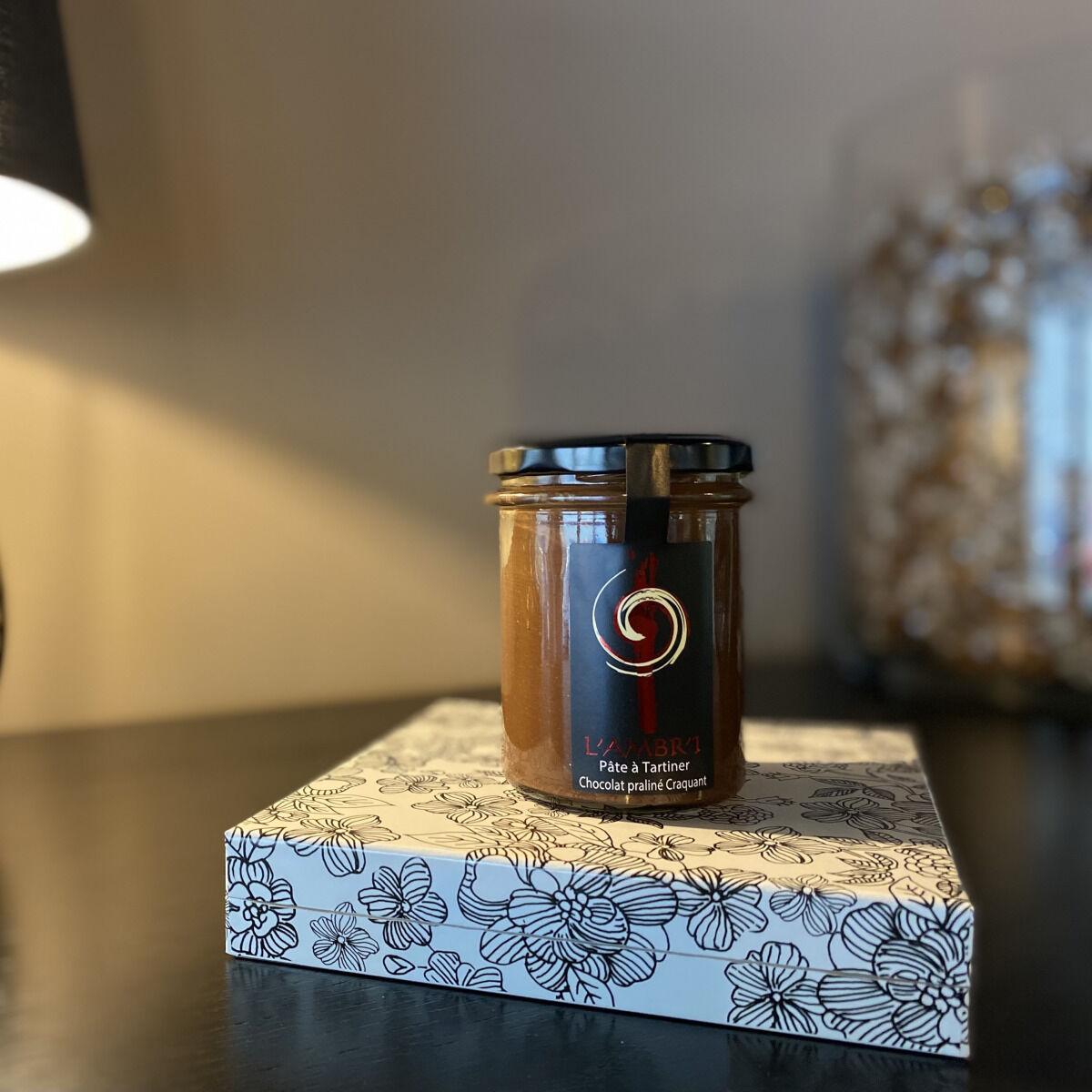 L'AMBR'1 Caramels et Gourmandises Pâte À Tartiner Praliné Craquant - Pot De 200g
