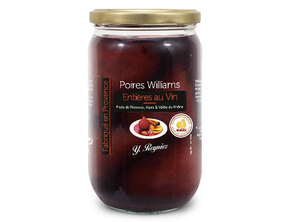Conserves Guintrand Poires Williams Entières Au Vin Aop Côtes Du Ventoux - Yr - Bocal 850ml