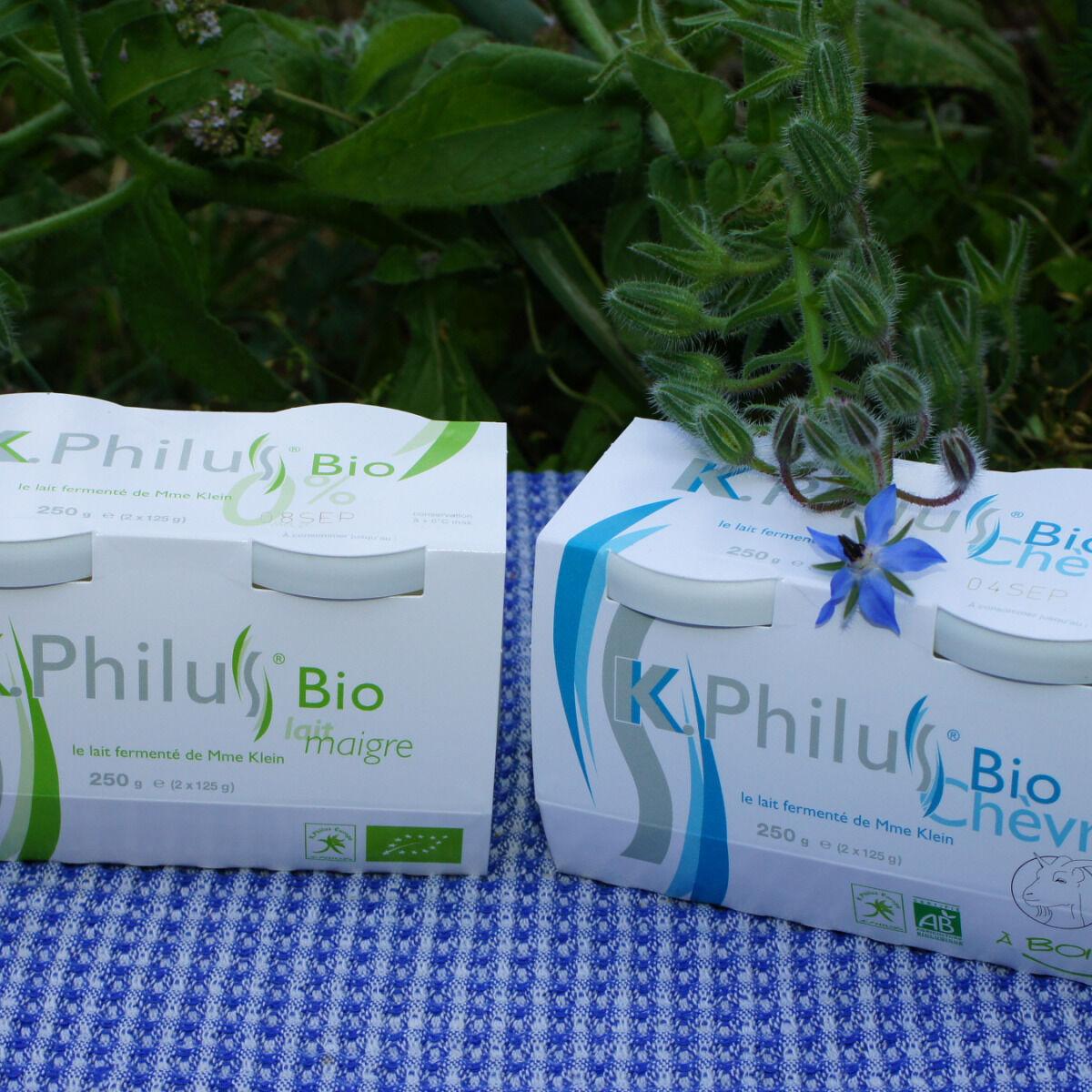 Laiterie du Climont - K-Philus Lot : 6 Pots K-Philus lait de Vache et 6 Pots K-Philus lait de Chèvre