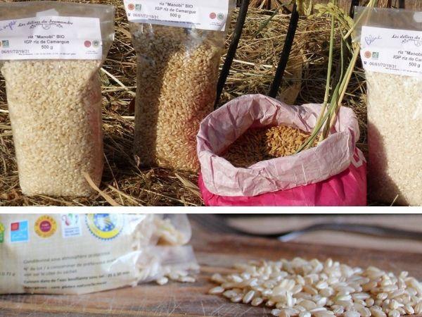 """Les Délices du Scamandre Riz Bio """"Manobi"""" IGP Riz de Camargue : Semi-complet 10kg et Complet 10kg"""