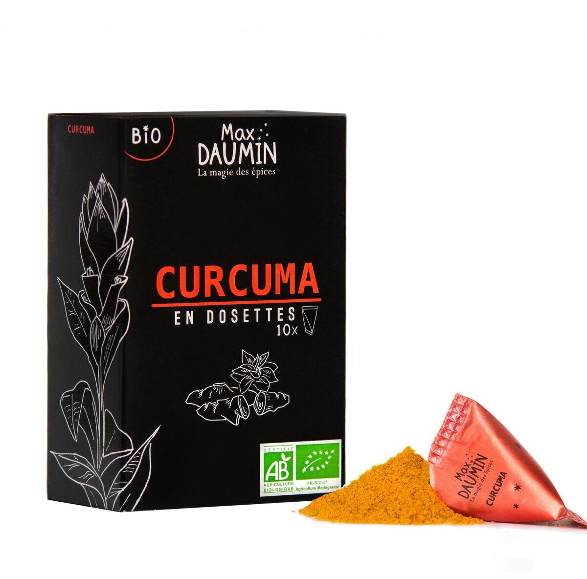 Epices Max Daumin Curcuma Bio - Boite de dix dosettes