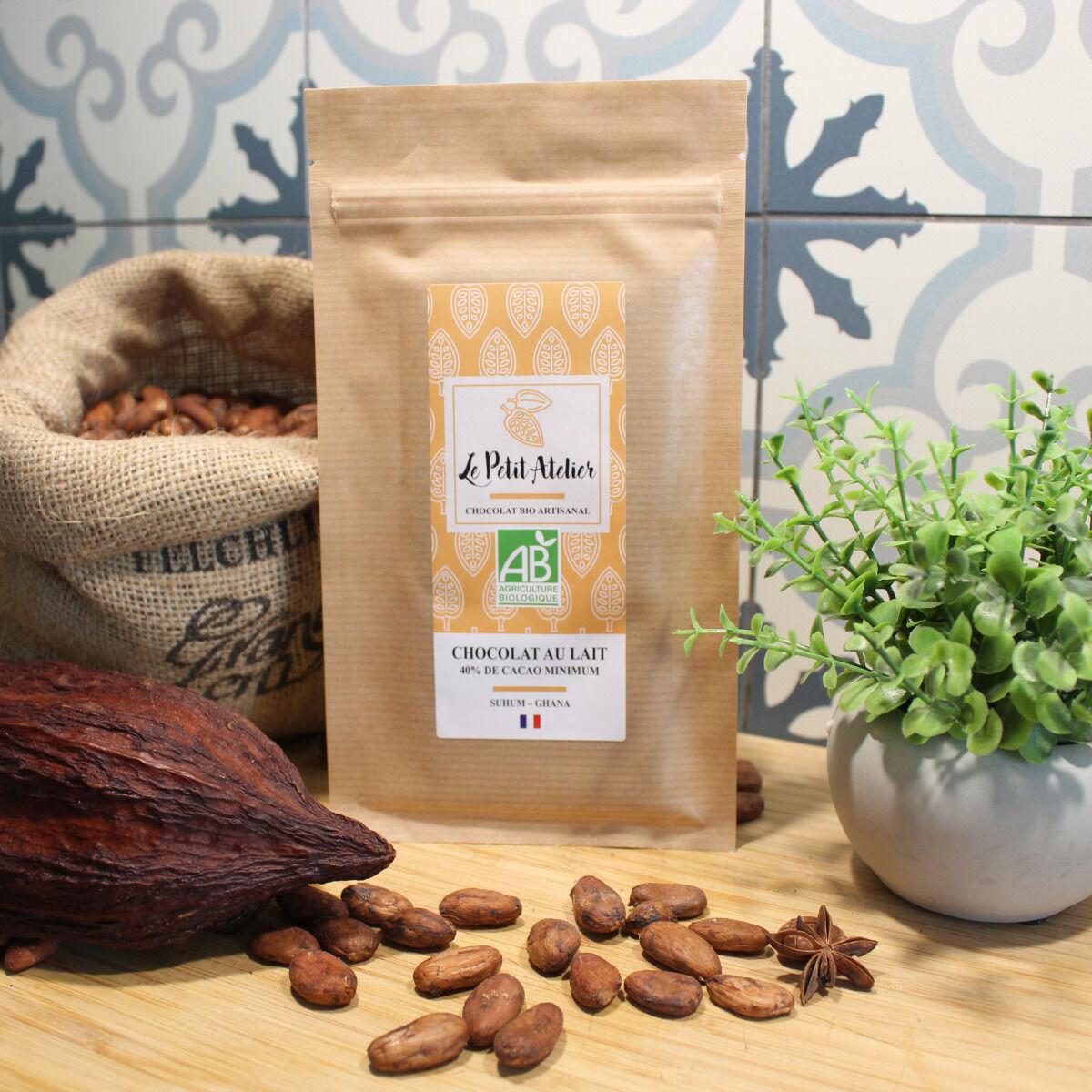 Le Petit Atelier Tablette Chocolat Au Lait Ghana 40% De Cacao Minimum