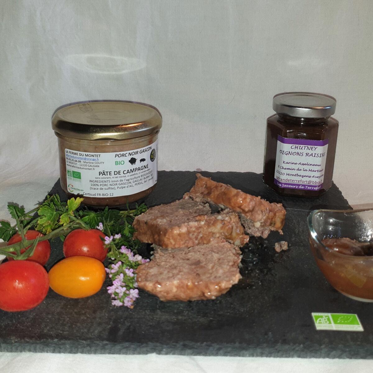 La Ferme du Montet Pâté de campagne de Porc Noir Gascon BIO 190 g