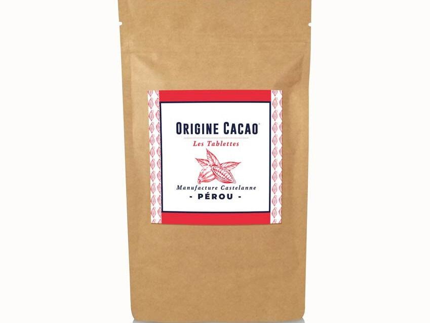Maison Castelanne Chocolat Tablette Perou - Inti 75% - Fèves Origine Bio