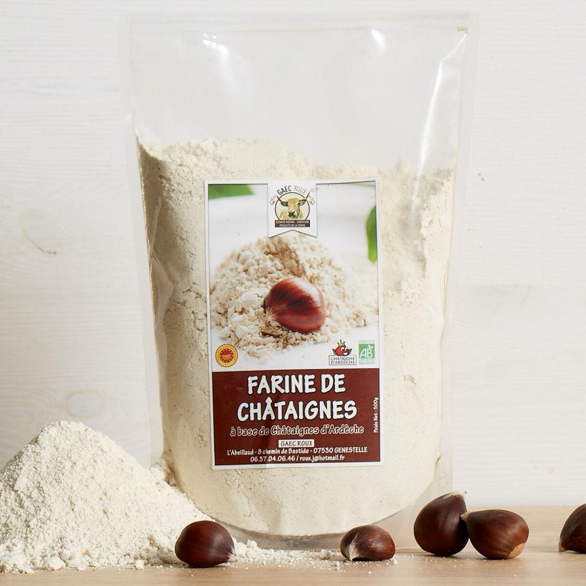 GAEC Roux Farine de Châtaignes d'Ardèche BIO et AOP - 500 g