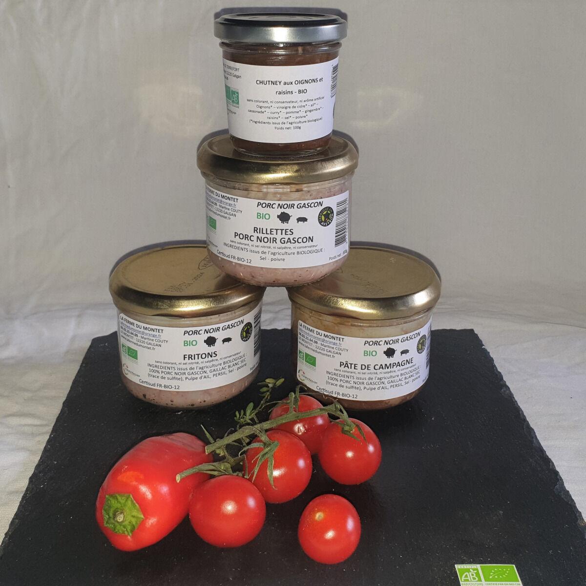 La Ferme du Montet Plateau de Charcuterie cuite de Porc Gascon BIO - 4 produits