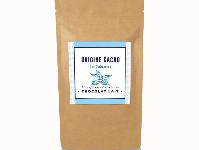 Maison Castelanne Chocolat Tablette Lait Equateur 36% - Fèves Origine Bio