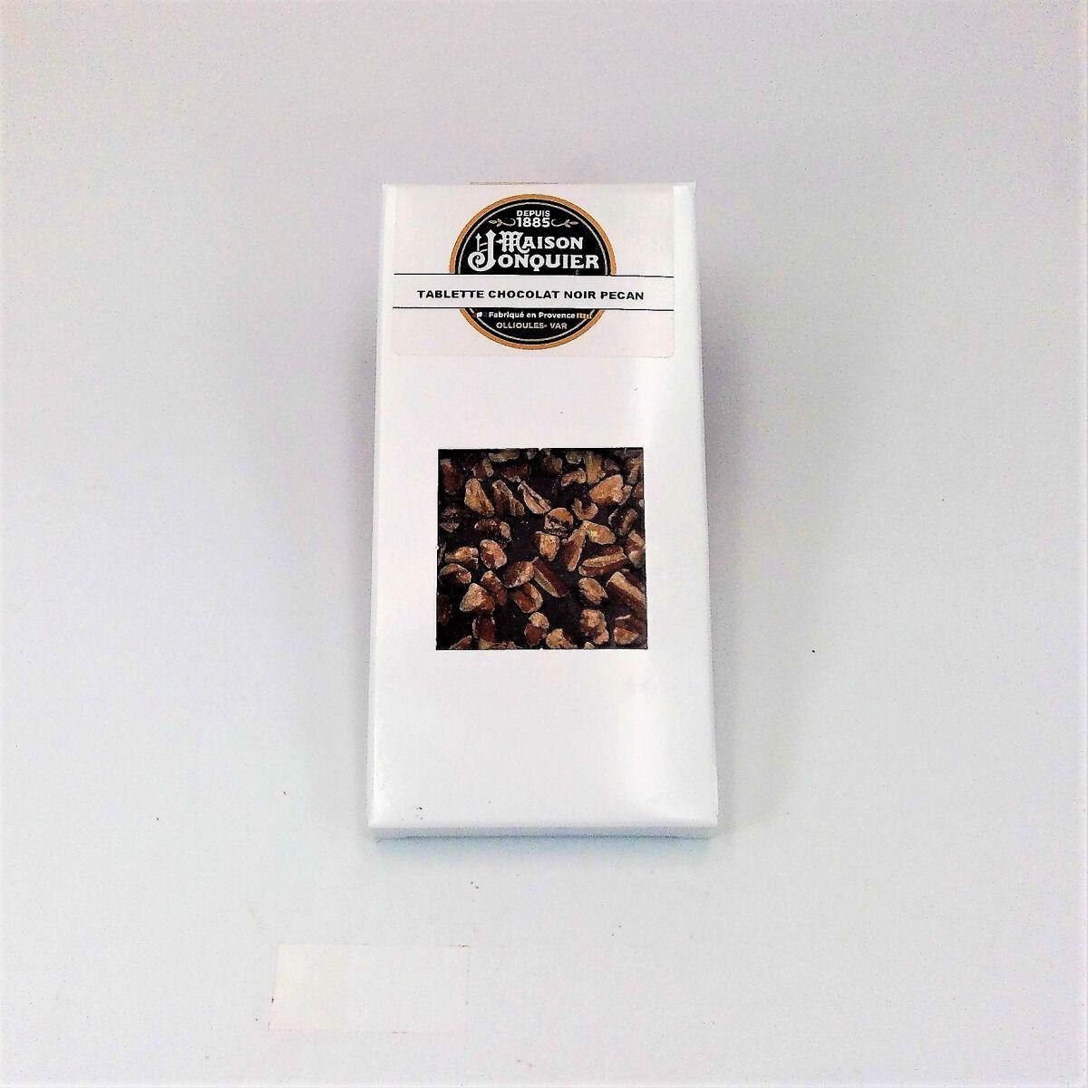 Maison Jonquier Chocolat Noir / Noix de Pécan – 62% de Cacao – 100g