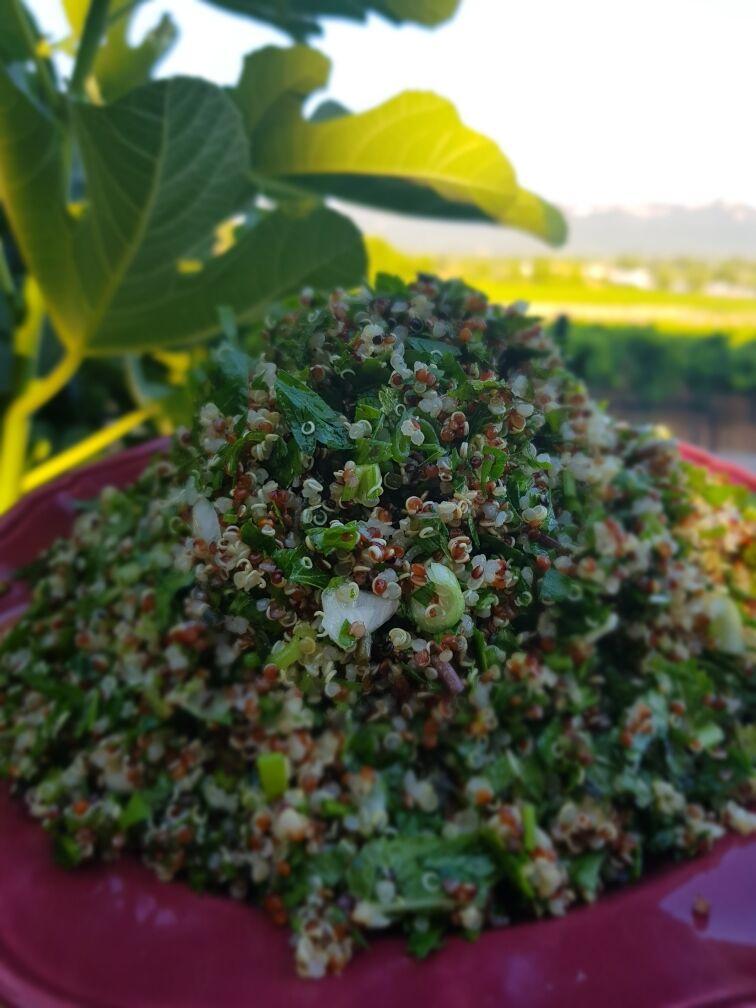 Graines Précieuses Taboulé Maison Au Quinoa Bio, Herbes Fraîches Et Citron Bio.