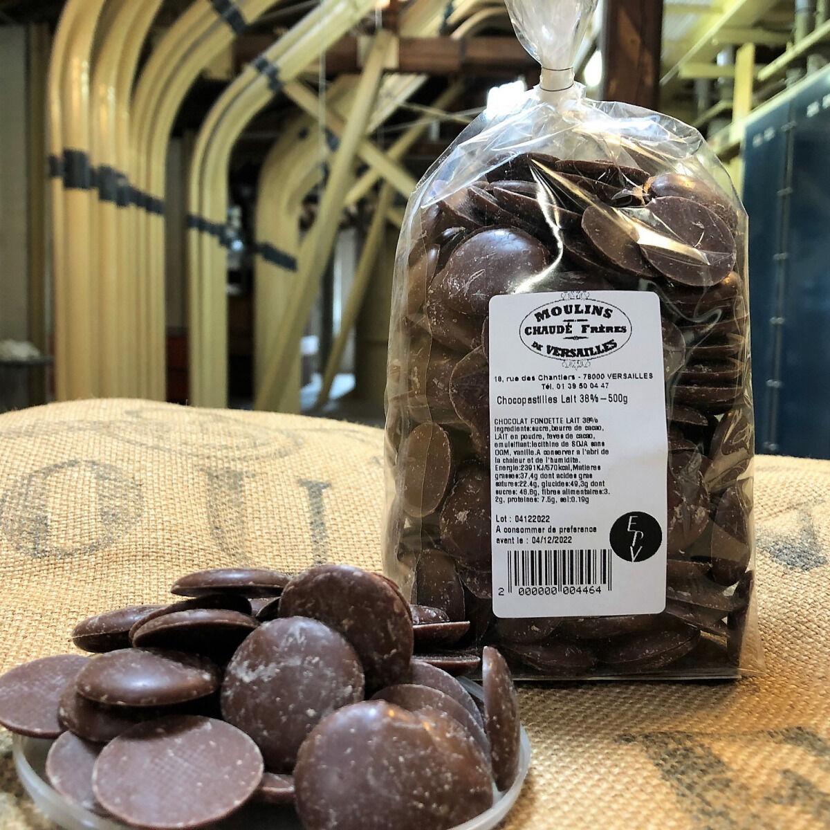 Moulins de Versailles Chocopastilles Chocolat Au Lait 38% - 500g