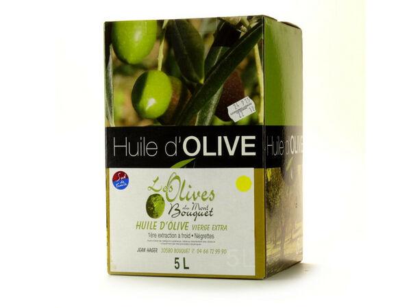 Les amandes et olives du Mont Bouquet Huile d'olive Négrette 5 L