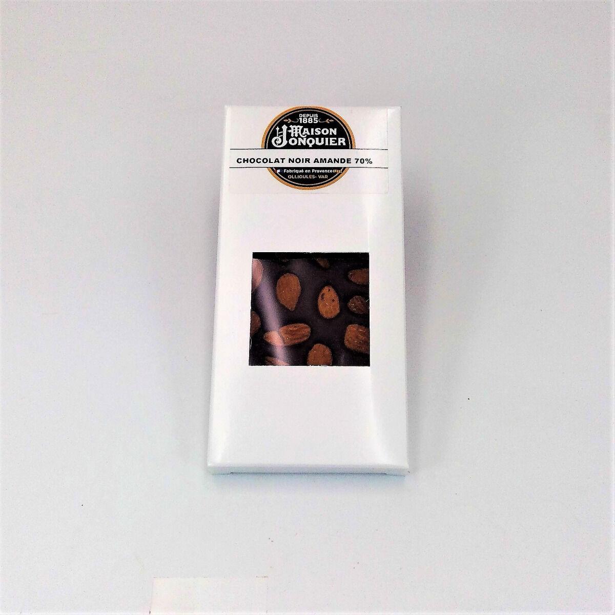Maison Jonquier Chocolat Noir aux Amandes – 62% de Cacao – 100g