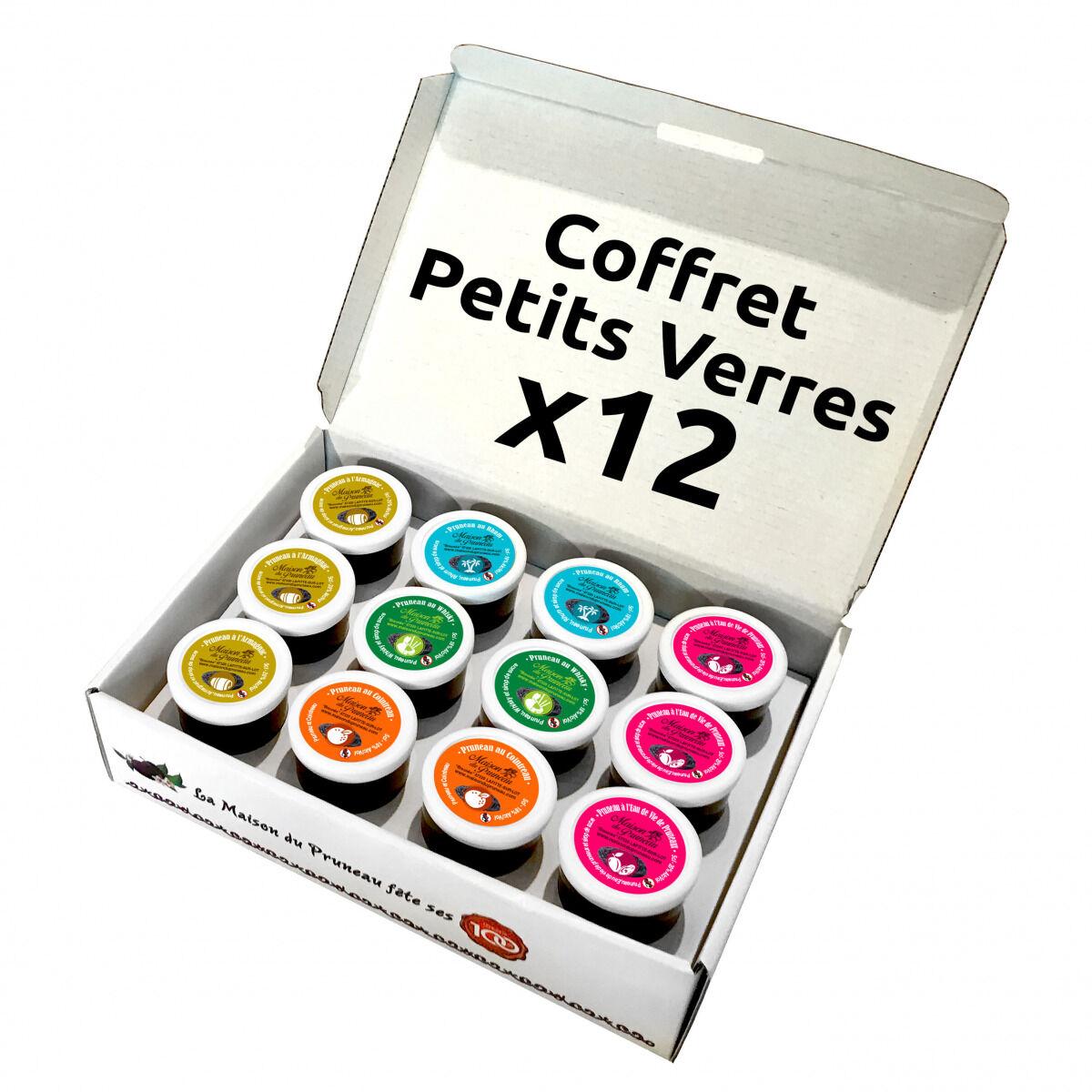 Maison du Pruneau Coffret Petits Verres x12 - Pruneau d'Agen IGP Alcool Mix