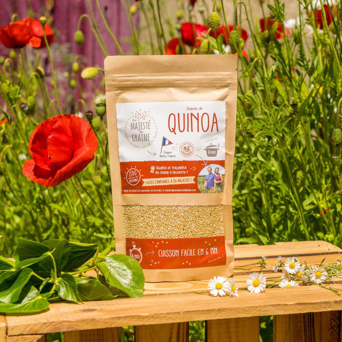 Sa Majesté la Graine Quinoa Blanc Origine France (berry) - 240 G