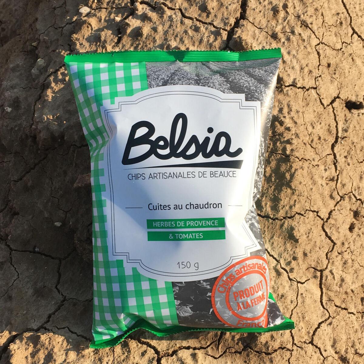 Chips BELSIA Chips Artisanale aux Herbes de Provence & Tomates x10