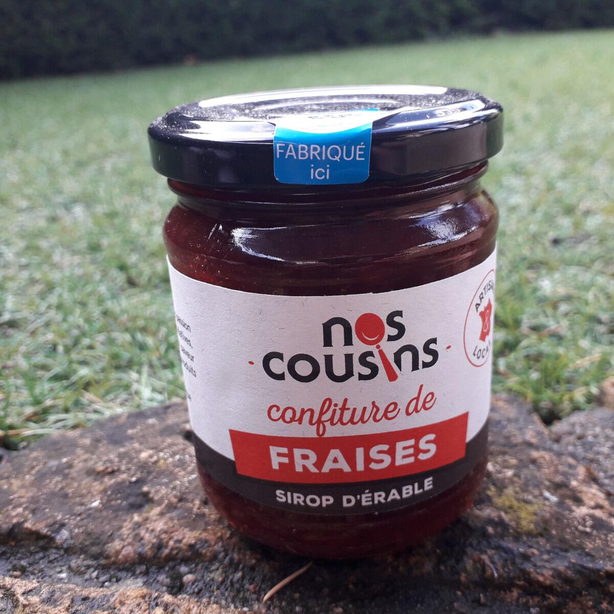 Nos cousins Conserverie Confiture De Fraise - Sirop D'érable 240g