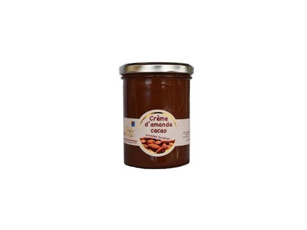 Les amandes et olives du Mont Bouquet Crème D'amande Cacao 450g (pâte À Tartiner)