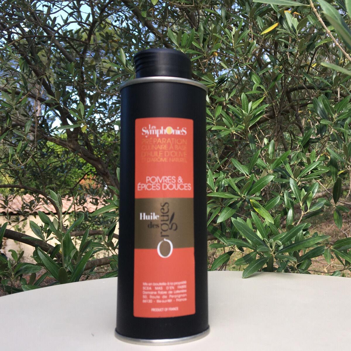 Huile des Orgues Huile d'olive Vierge Extra aux Notes Poivrées - 250 ml