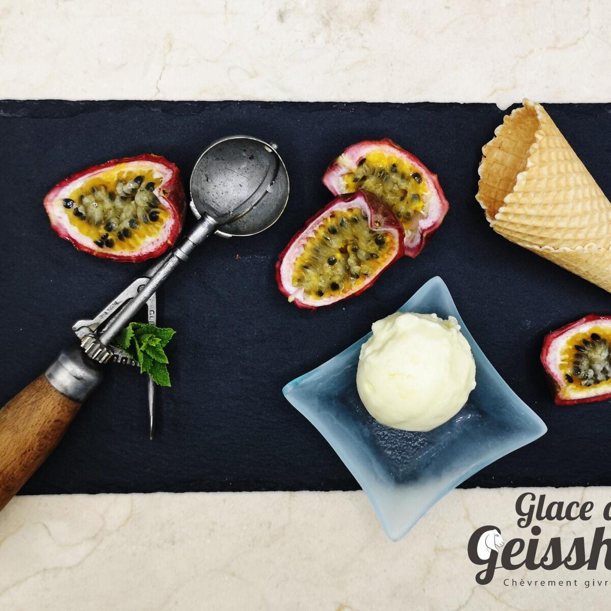 Glace du Geisshoff Fruit de La Passion Crème Glacée Fermière au Lait de Chèvre 750 ml