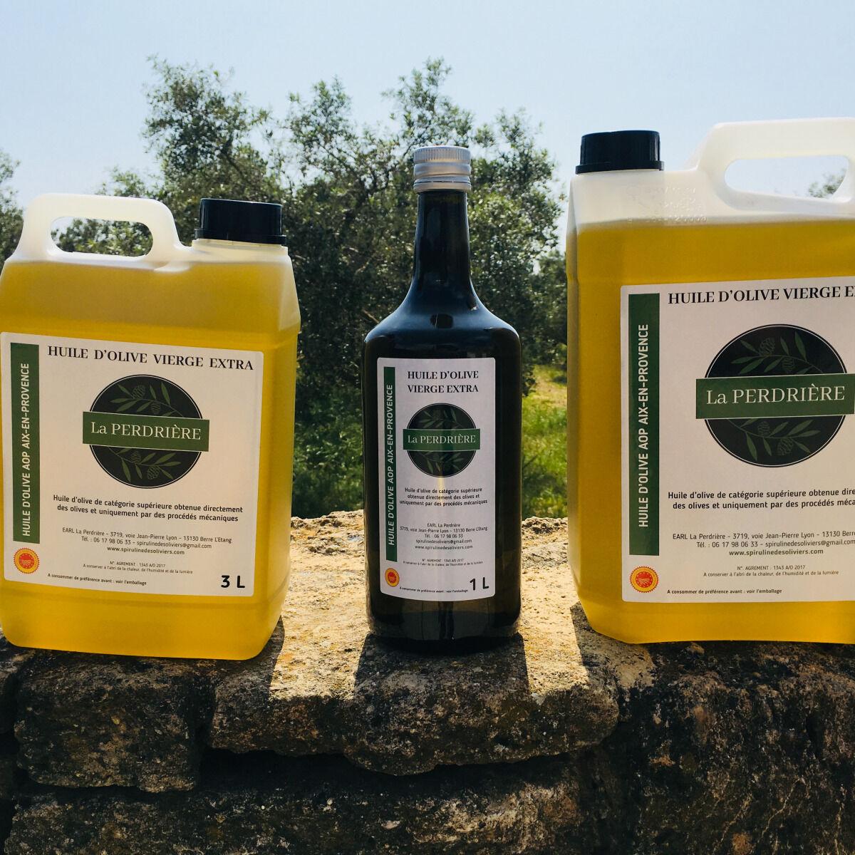Spiruline des Oliviers Huile D'olive Vierge Extra Aop Aix-en-provence 5L