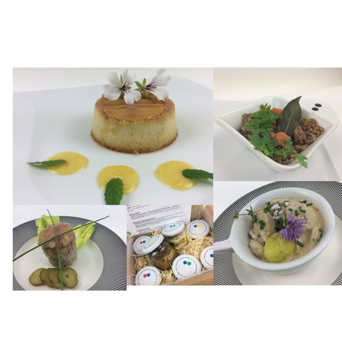 Christian Piot - Votre chef en ligne Panier Repas Saveurs Champenoises 4 créations pour 2 personnes