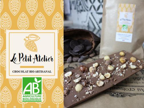 Le Petit Atelier Tablette De Chocolat Au Lait Et Noisettes Caramélisées