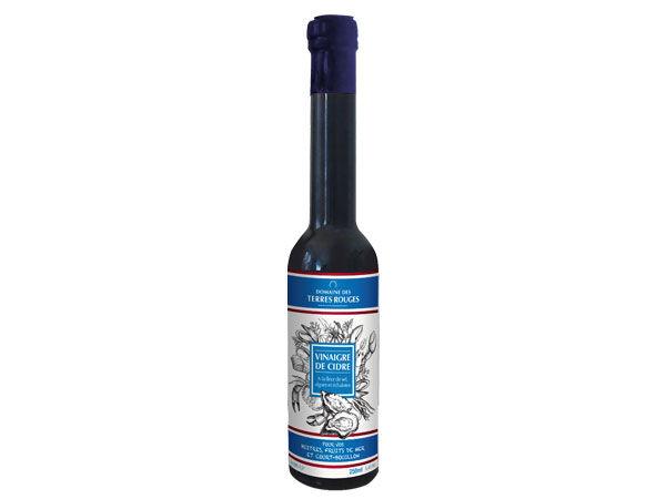 Domaine des Terres Rouges Vinaigre De Cidre Aux Algues, Echalotes Et Fleur De Sel 25cl