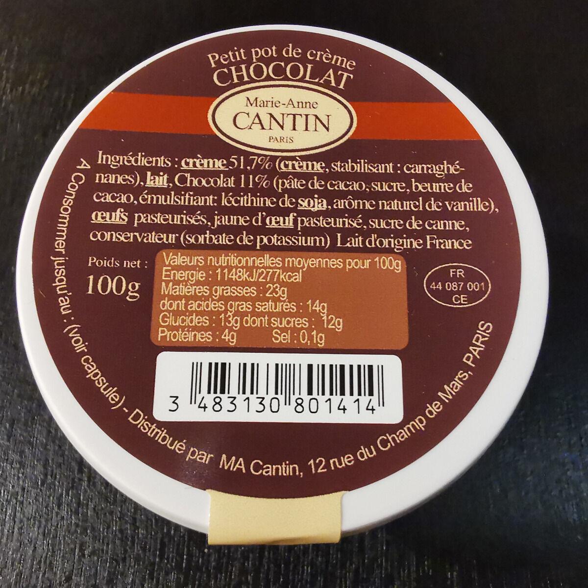 La Fromagerie Marie-Anne Cantin Petit Pot De Crème Chocolat