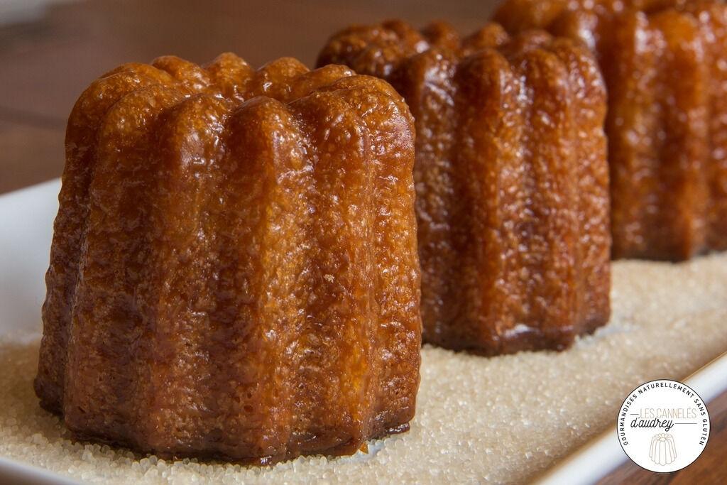 Les Cannelés d'Audrey Lot de 27 cannelés aux subtiles saveurs de fleur d'oranger, rhum et chocolat sans gluten bio