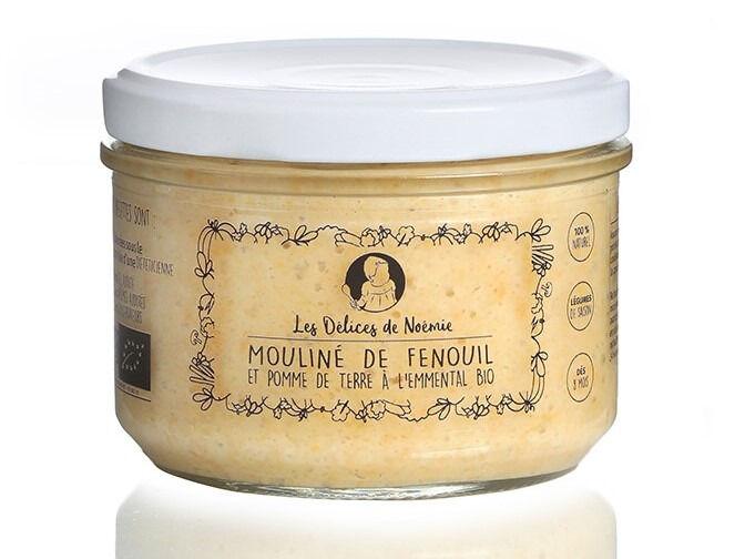 Les délices de Noémie Petits pots bébé 8 mois: Lot de 3 Mouliné de fenouil et pomme de terre a l'emmental Bio