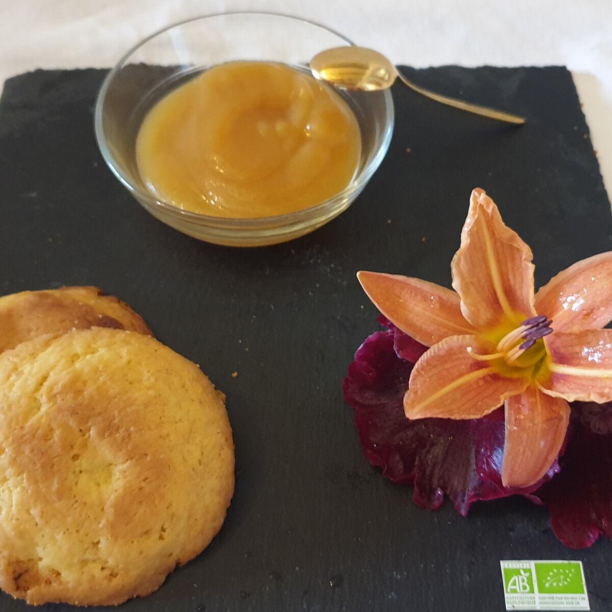 La Ferme du Montet Compote Pomme - peche - bio - sans sucre ajouté