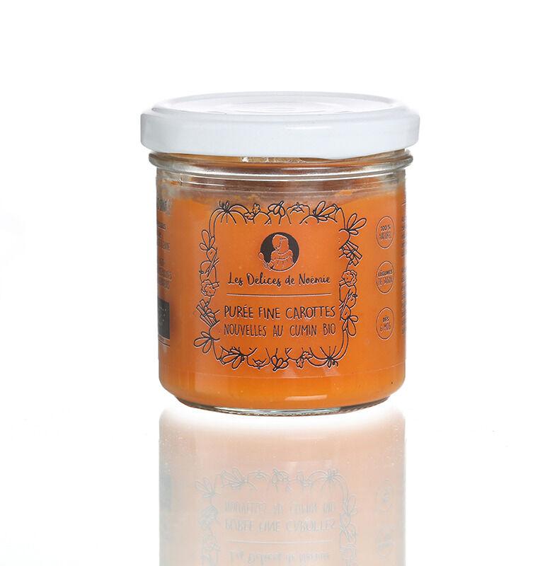 Les délices de Noémie Petits Pots Bébé 6 Mois: Lot de 3 Purée fine de carottes nouvelles au cumin Bio