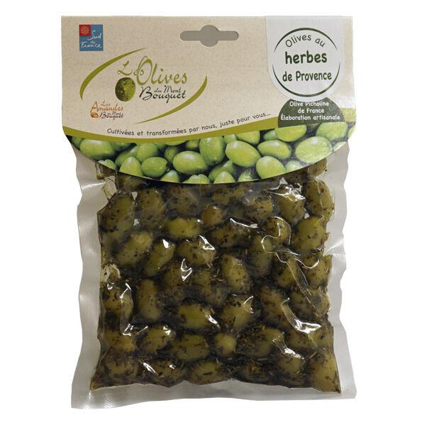 Les amandes et olives du Mont Bouquet Olives aux Herbes de Provence