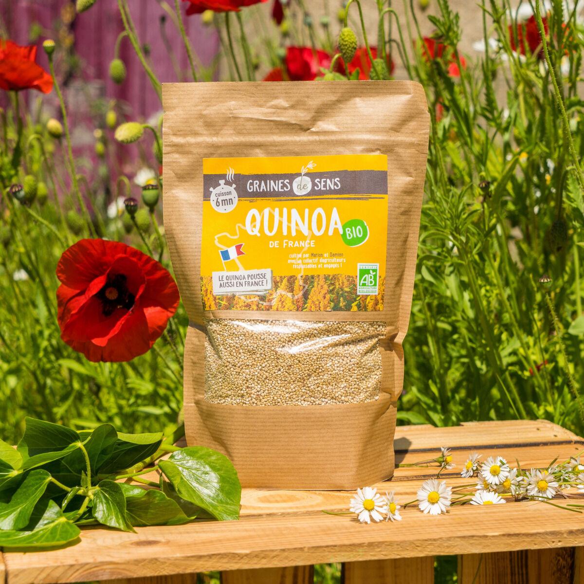 Sa Majesté la Graine Quinoa Blanc Bio Du Berry - Cuisson 6min - sachet 500 g