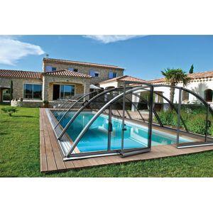 Abri piscine Klasik Clear B : 471 x 860 x 130 cm - Publicité