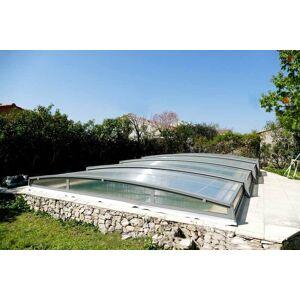 Abri piscine en kit 1050 x 573 cm (4.80 m) - Bassin de 10 x 4 m - Publicité
