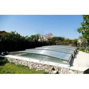 Abri piscine en kit 1050 x 668 cm (5.80 m) - Bassin de 10 x 5 m - Publicité