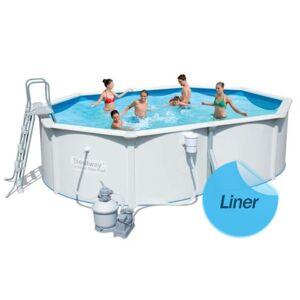 Bestway Liner 75/100ème piscine Bestway - hydrium 360 x 120 cm - Bleu ciel - Publicité