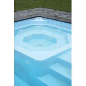 Piscine coque MENPHIS 1 : 7.70 x 3.80 x 1.50 m + LUXE + Coffre PVC hors sol - Publicité